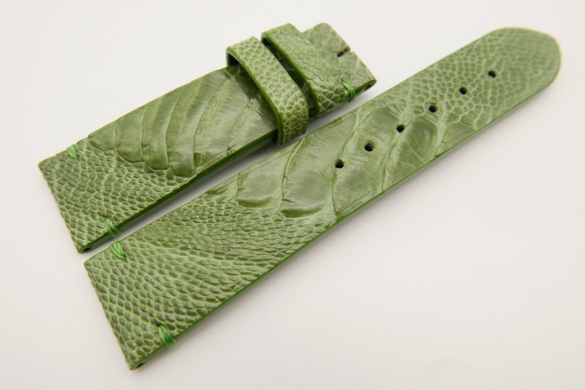 22mm/20mm Green Genuine OSTRICH Skin Leather Watch Strap #WT3400