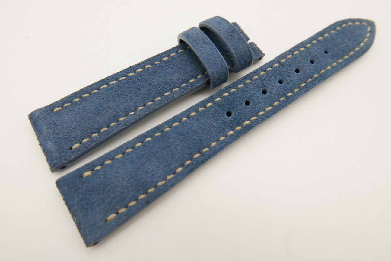 20mm/16mm Blue Genuine Suede Leather Watch strap #WT3488