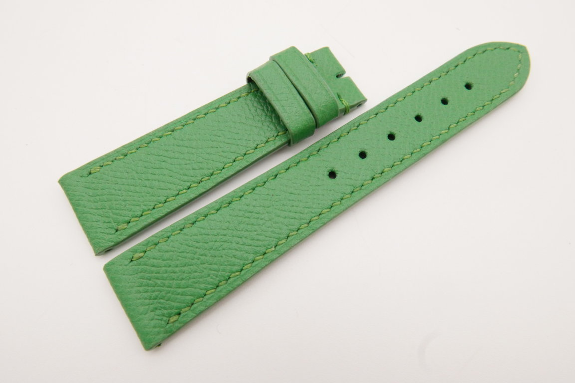 20mm/18mm Green Genuine EPSOM CALF Skin Leather Watch Strap #WT3561