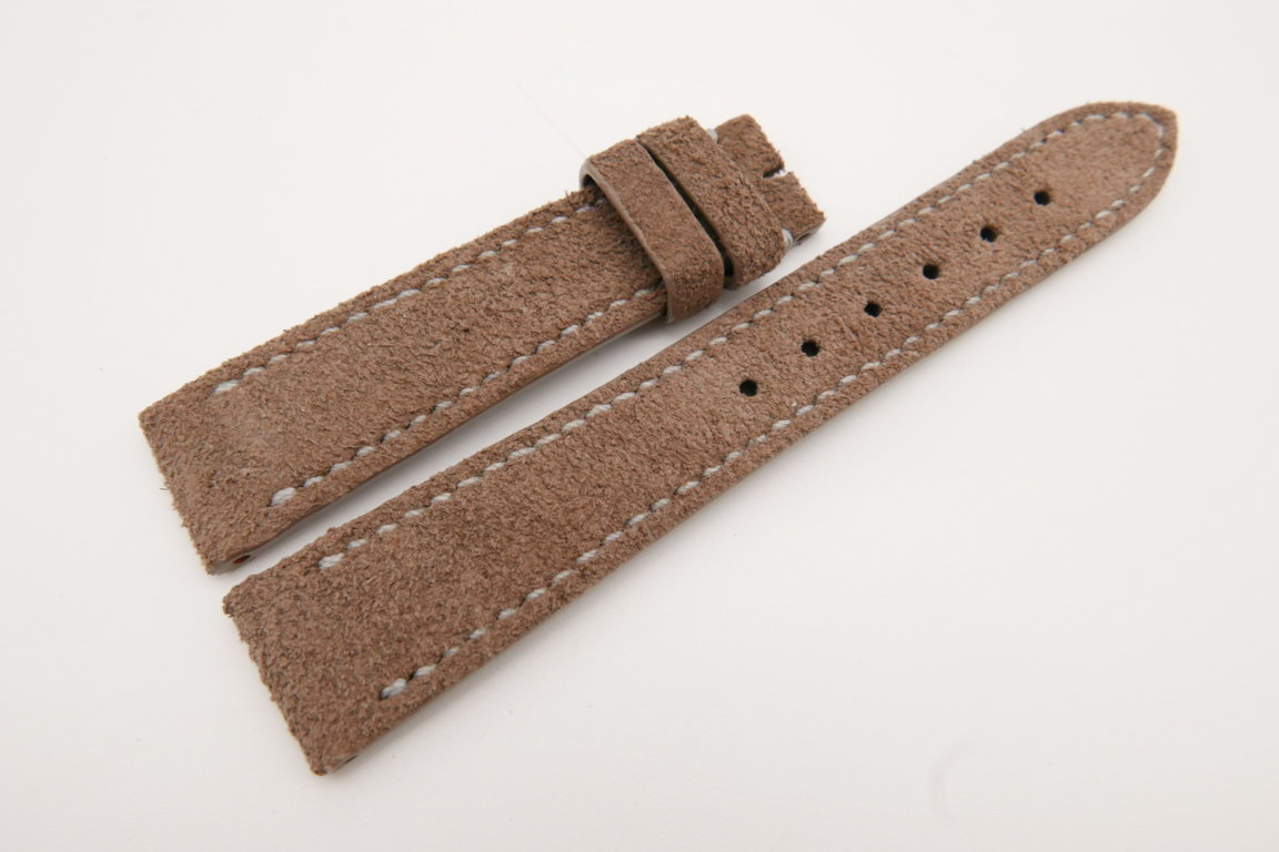 19mm/16mm Brown Genuine Suede Leather Watch strap #WT3617