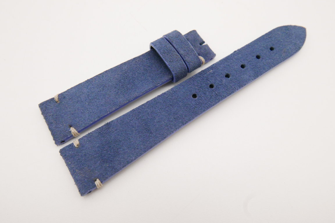 19mm/16mm Blue Genuine Suede Leather Watch strap #WT3619