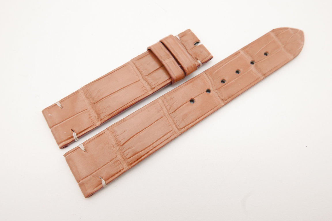 18mm/18mm Pink Genuine CROCODILE Skin Leather Watch Strap #WT3592