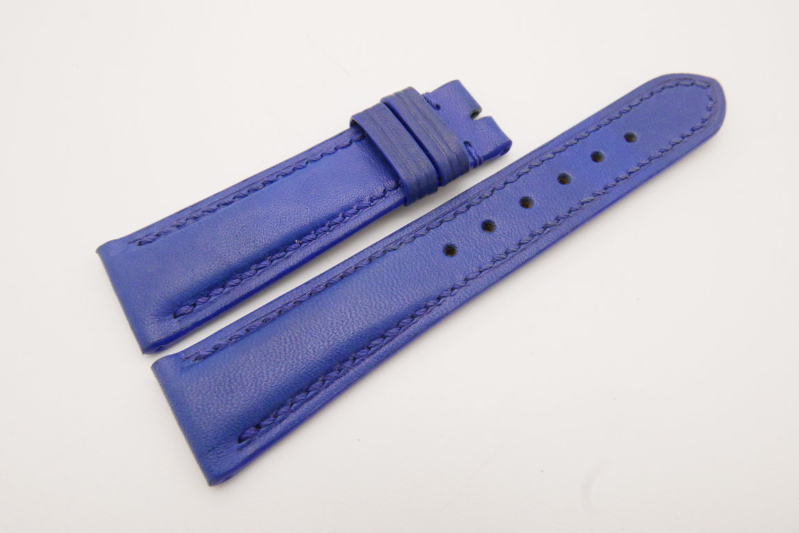 21mm/18mm Blue Genuine Vegtan CALF Skin Leather Watch Strap #WT3655