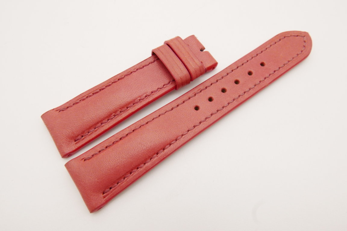 20mm/18mm Red Genuine Vegtan CALF Skin Leather Watch Strap #WT3670