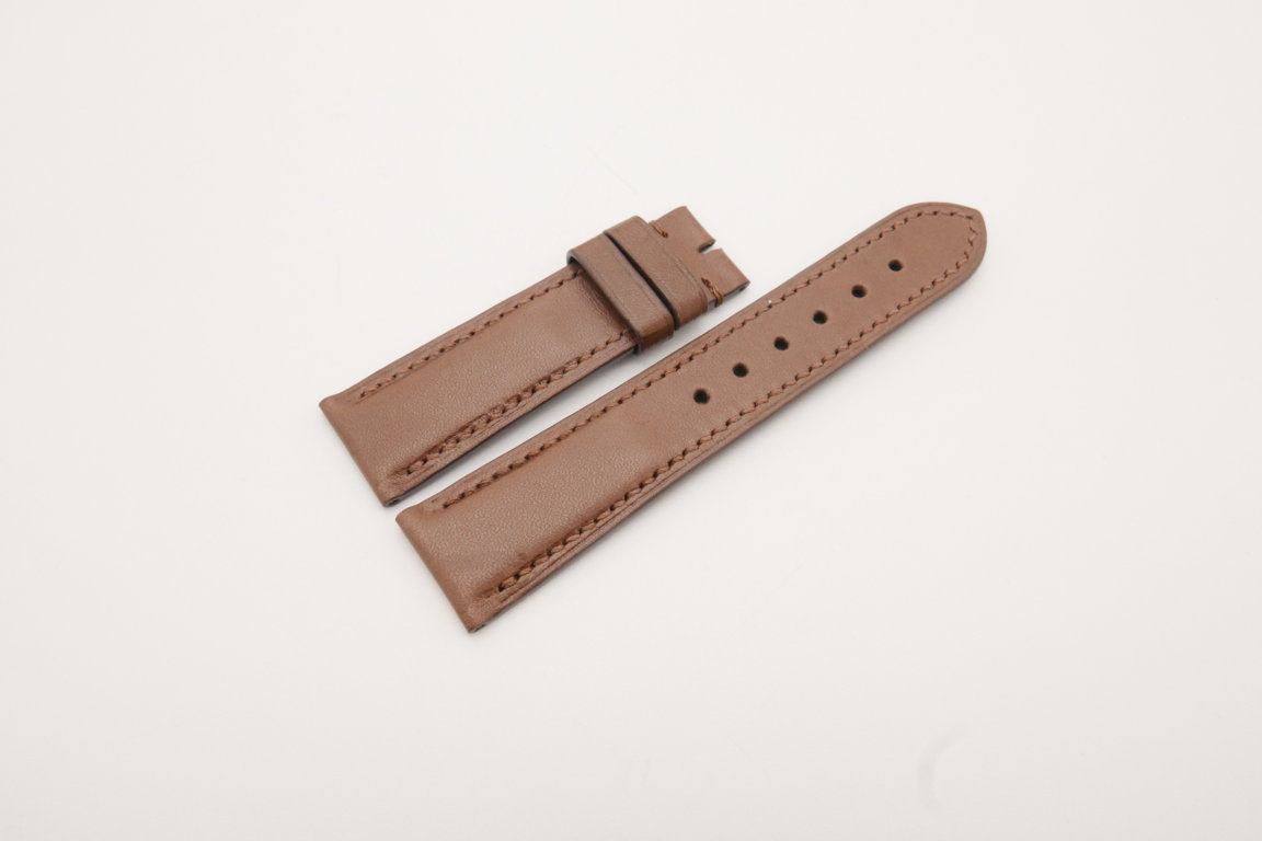 22mm/20mm Brown Genuine Vegtan Skin Leather Watch Strap #WT3782