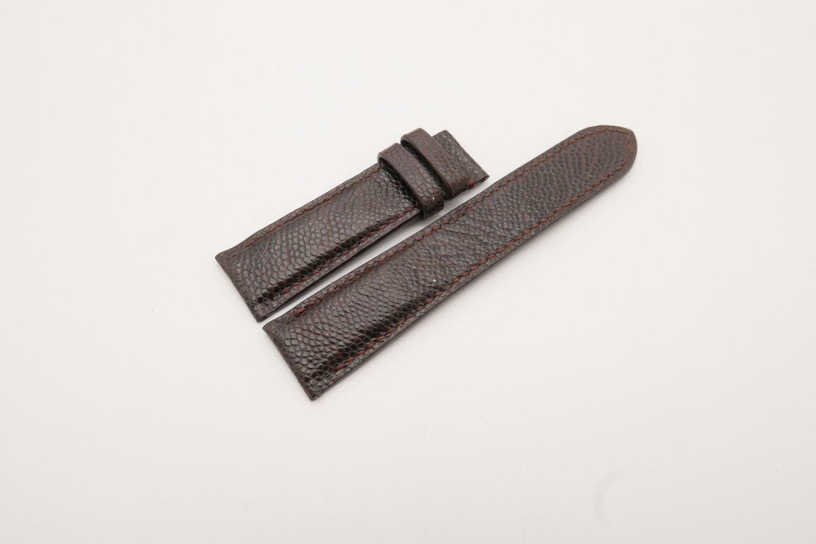 22mm/20mm Dark Brown Genuine OSTRICH Skin Leather Watch Strap #WT3783