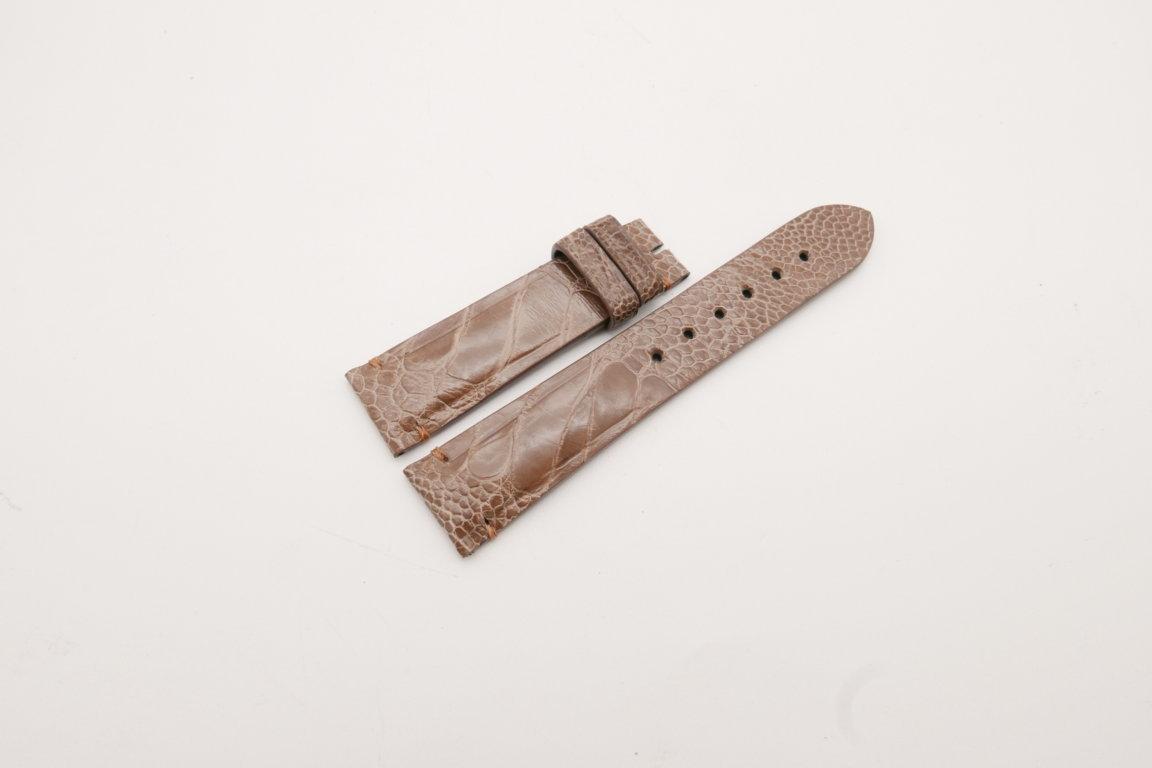 21mm/18mm Light Brown Genuine OSTRICH Skin Leather Watch Strap #WT3901