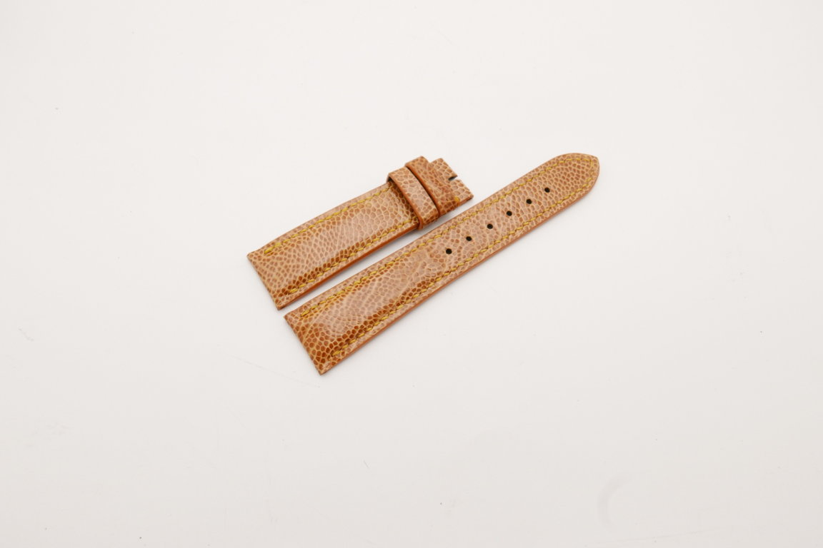21mm/18mm Tan Brown Genuine OSTRICH Skin Leather Watch Strap #WT3908