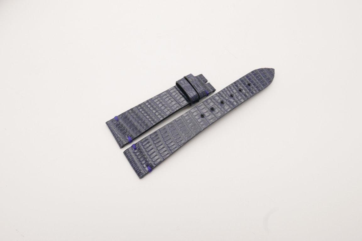 20mm/16mm Dark Navy Blue Genuine LIZARD Skin Leather Watch Strap #WT3919