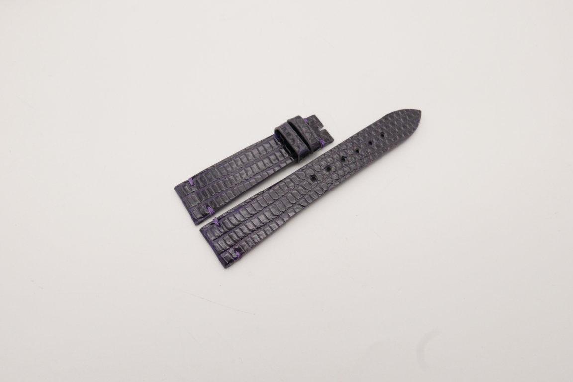 20mm/16mm Purple Genuine LIZARD Skin Leather Watch Strap #WT3920