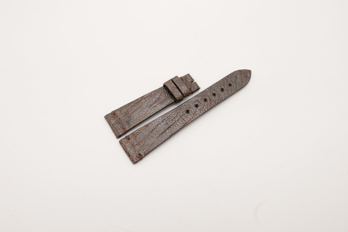 20mm/16mm Dark Brown Genuine OSTRICH Skin Leather Watch Strap #WT3932