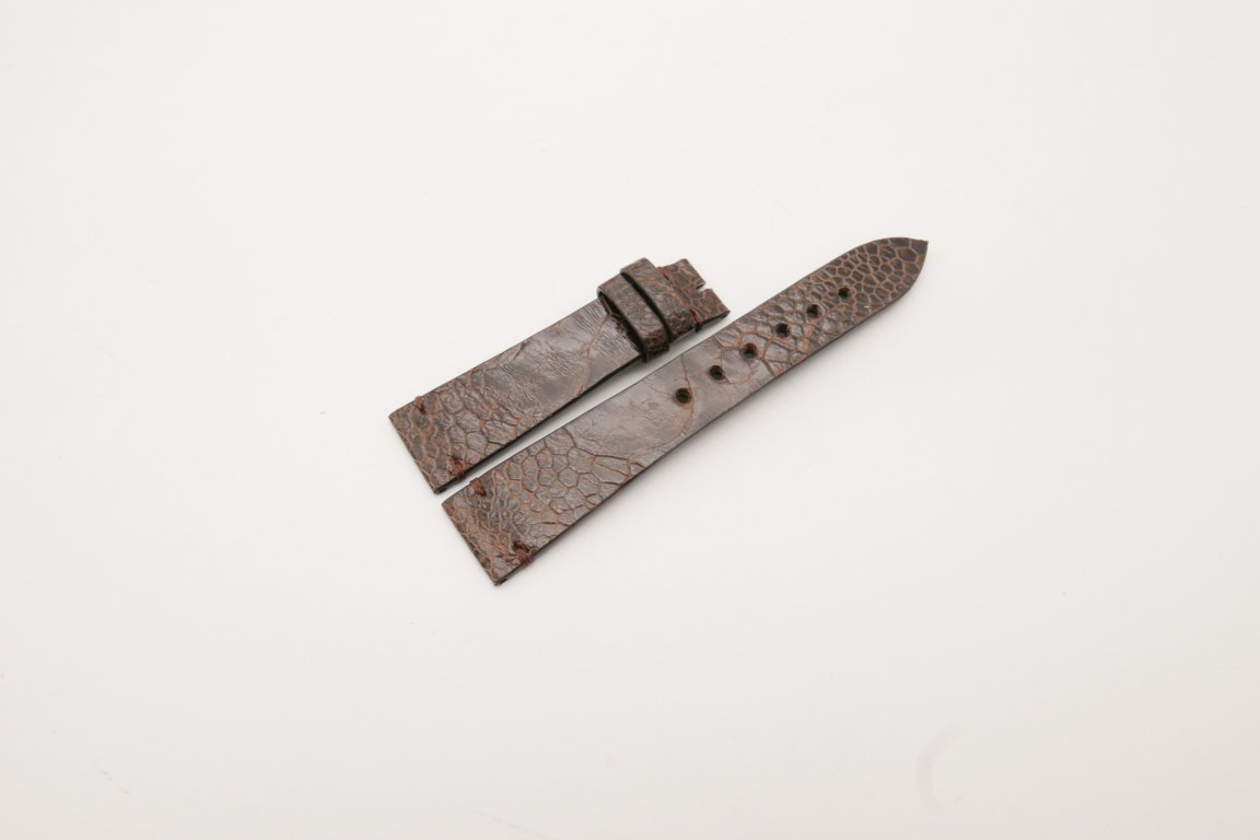 20mm/16mm Dark Brown Genuine OSTRICH Skin Leather Watch Strap #WT3933
