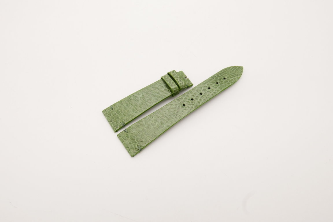 20mm/16mm Green Genuine OSTRICH Skin Leather Watch Strap #WT3934