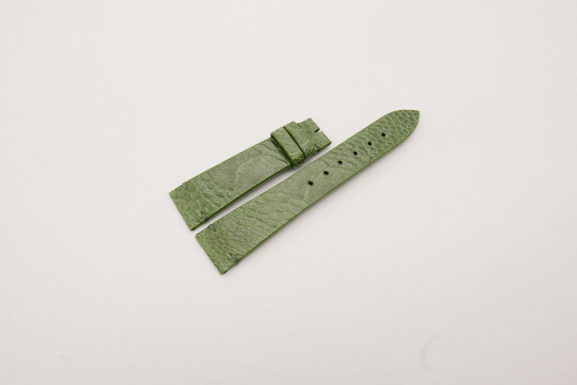 20mm/16mm Green Genuine OSTRICH Skin Leather Watch Strap #WT3935