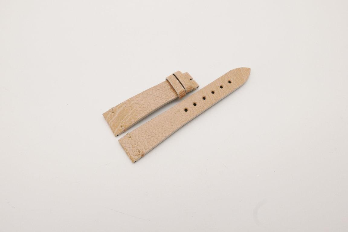 20mm/16mm Beige Genuine OSTRICH Skin Leather Watch Strap #WT3936