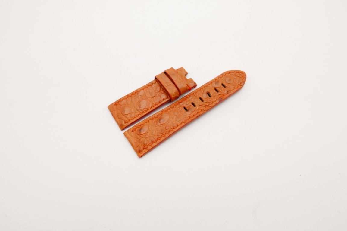 24mm/22mm Orange Genuine CROCODILE Skin Leather Watch Strap for Panerai #WT3992