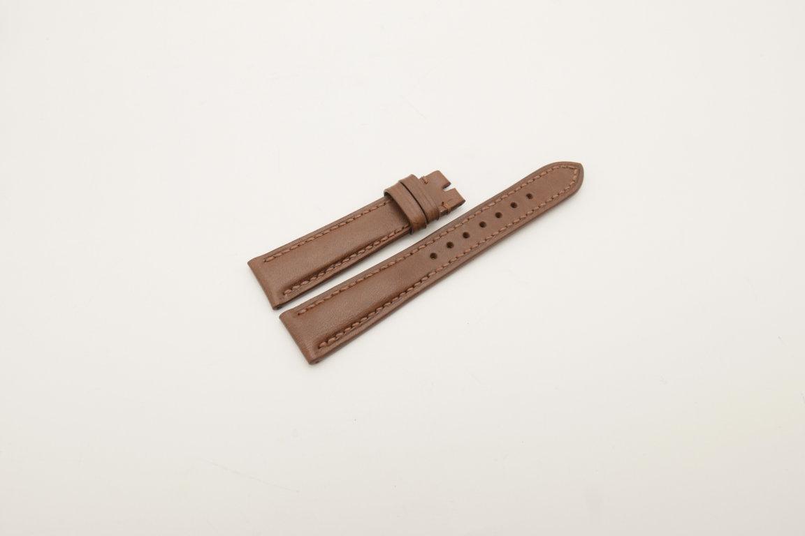 19mm/16mm Brown Genuine Vegtan CALF Skin Leather Watch Strap #WT4010