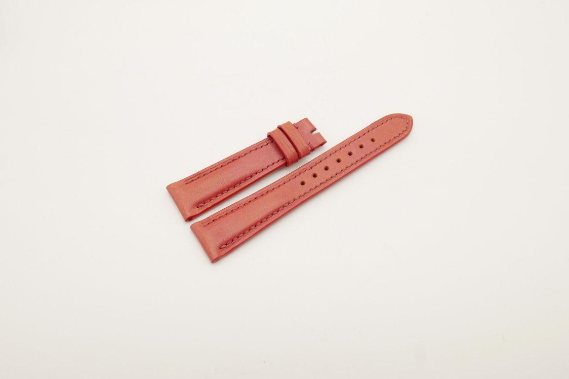 19mm/16mm Red Genuine Vegtan CALF Skin Leather Watch Strap #WT4012
