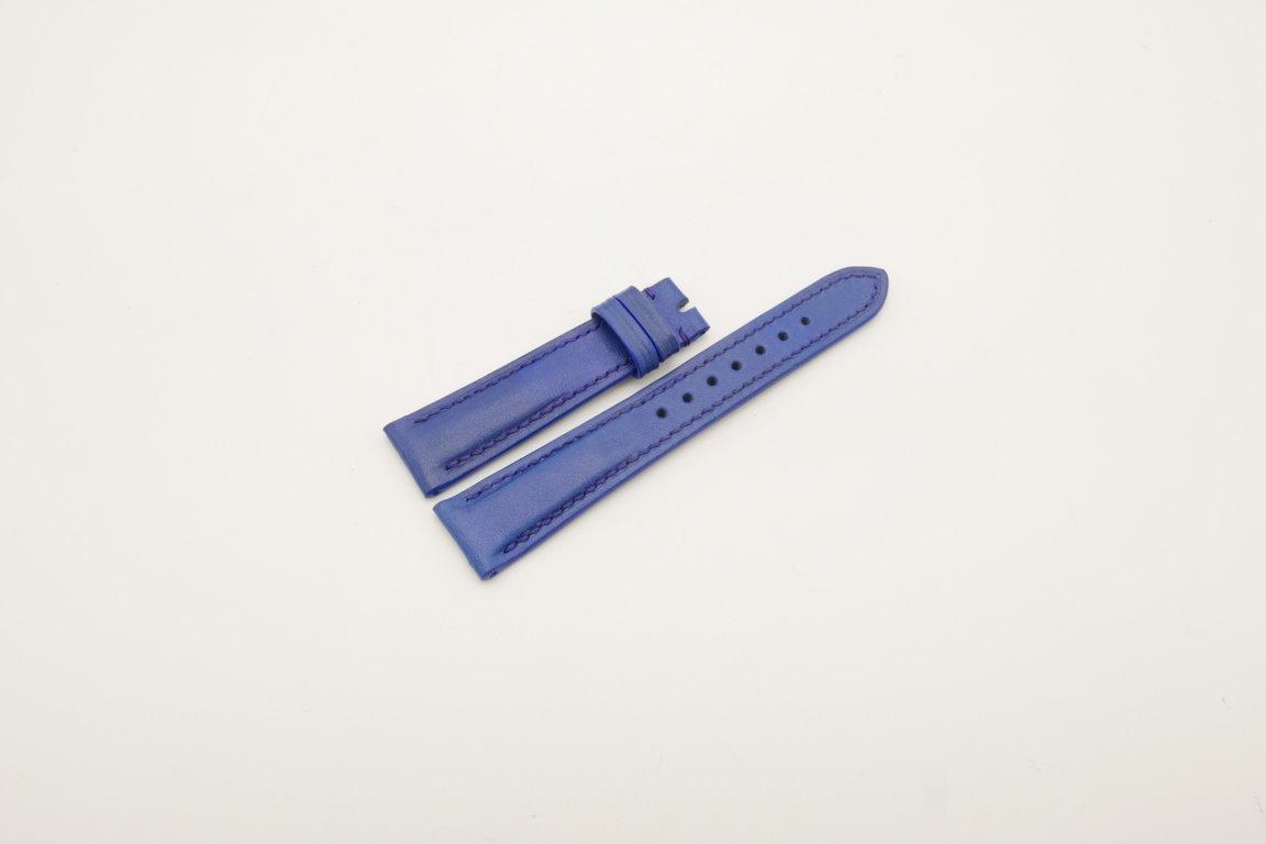 19mm/16mm Blue Genuine Vegtan CALF Skin Leather Watch Strap #WT4013