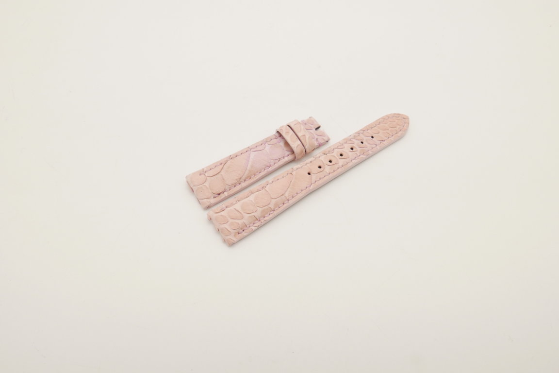 19mm/16mm Pink Genuine PYTHON Skin Leather Watch Strap #WT4023