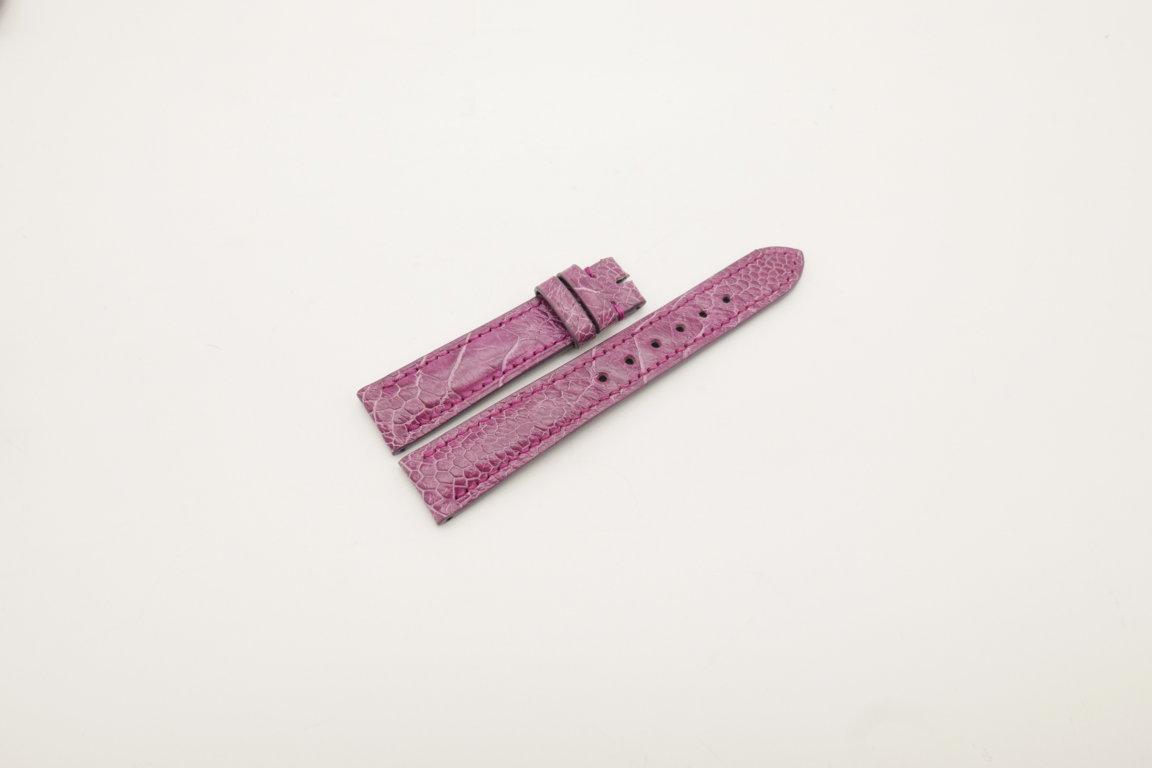 18mm/16mm Pink Genuine OSTRICH Skin Leather Watch Strap #WT4025