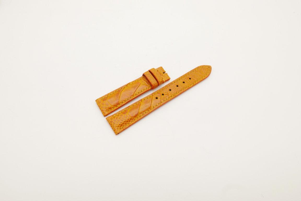 18mm/16mm Orange Genuine OSTRICH Skin Leather Watch Strap #WT4027