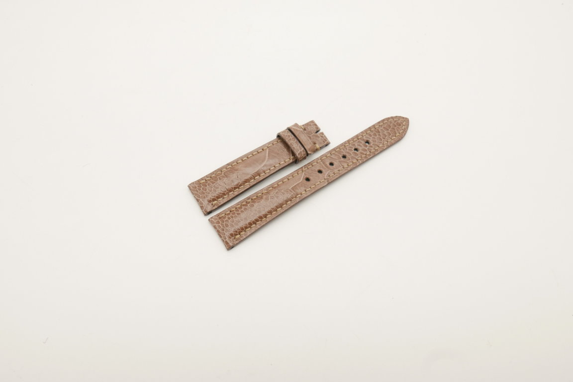18mm/16mm Brown Genuine OSTRICH Skin Leather Watch Strap #WT4029