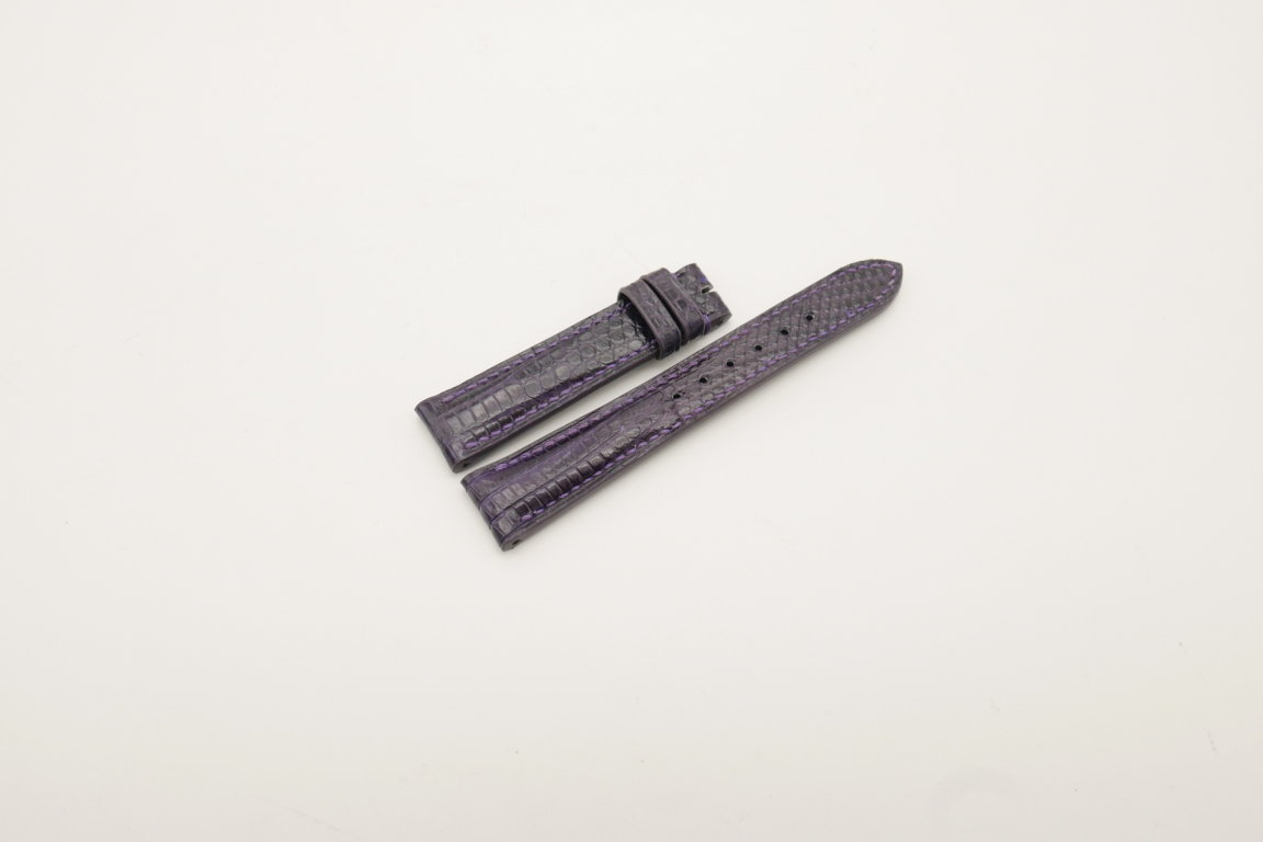 18mm/16mm Purple Genuine Lizard Skin Leather Watch Strap #WT4031