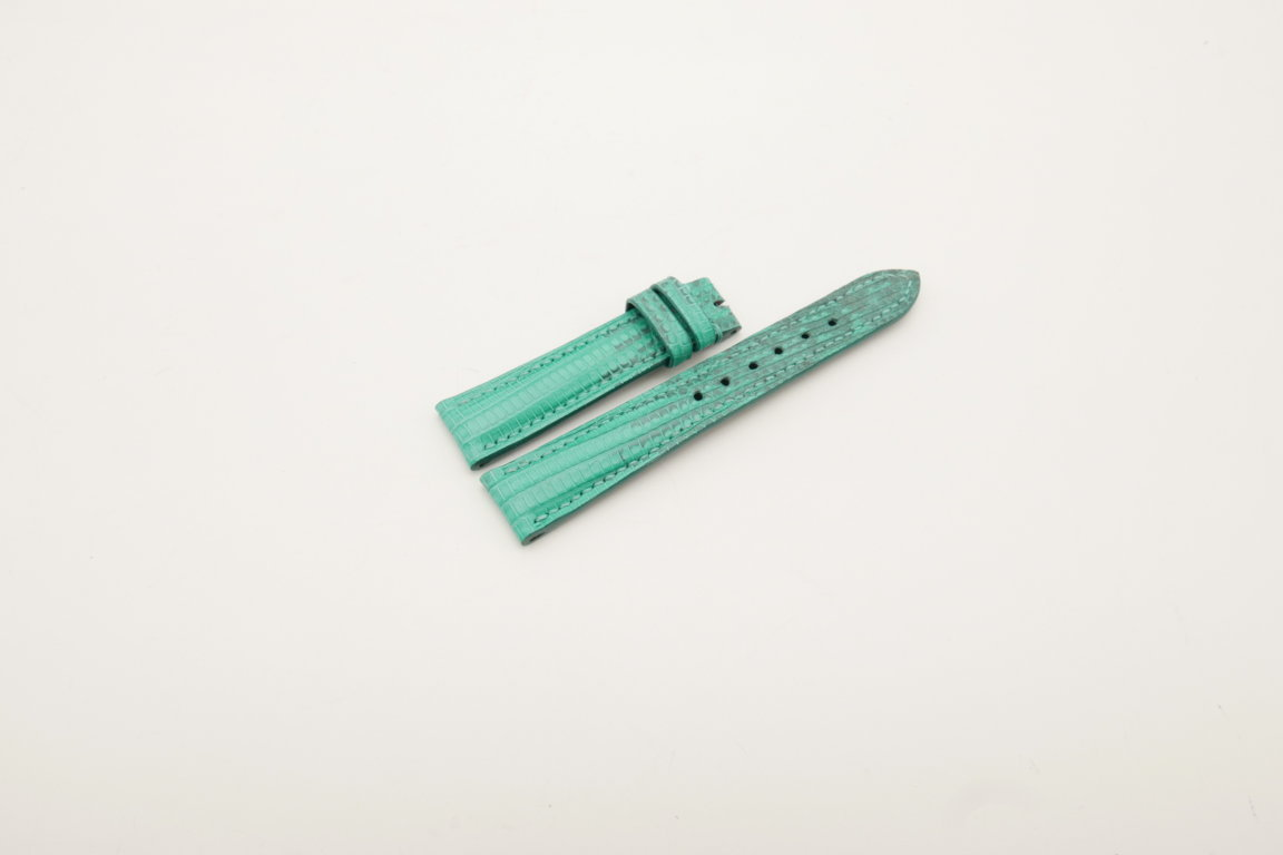 18mm/16mm Jade Green Genuine Lizard Skin Leather Watch Strap #WT4033