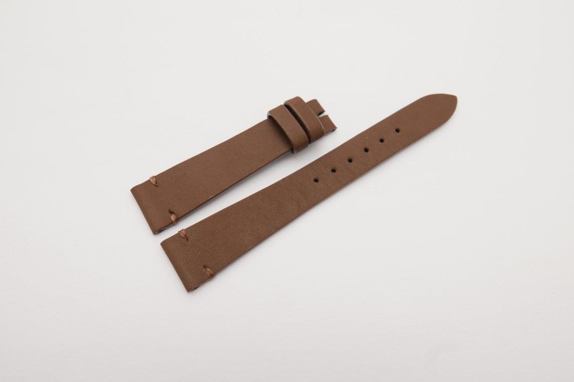 18mm/14mm Brown Genuine Vegtan Calf Skin Leather Watch Strap Band #WT4142