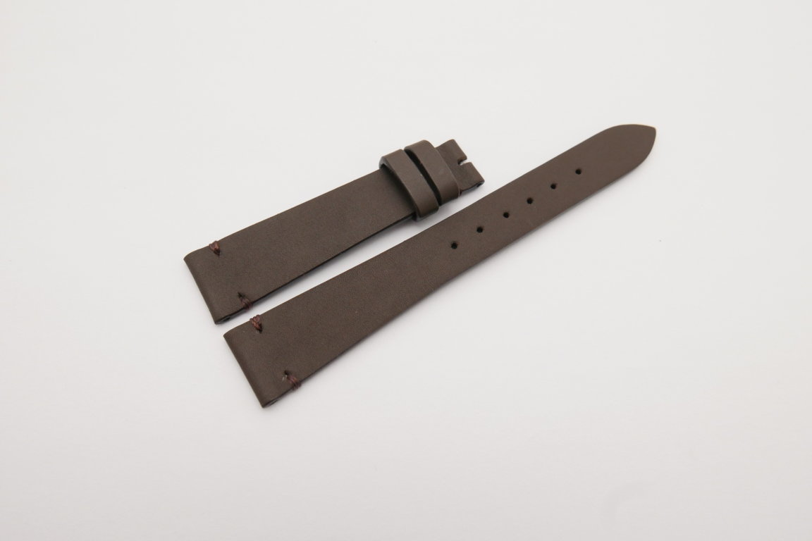 18mm/14mm Dark Brown Genuine SOMBRERO Calf Skin Leather Watch Strap Band #WT4143