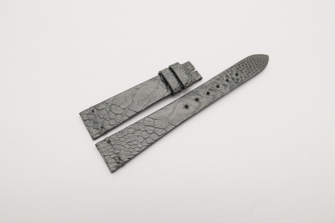 18mm/14mm Gray Genuine OSTRICH Skin Leather Watch Strap Band #WT4151