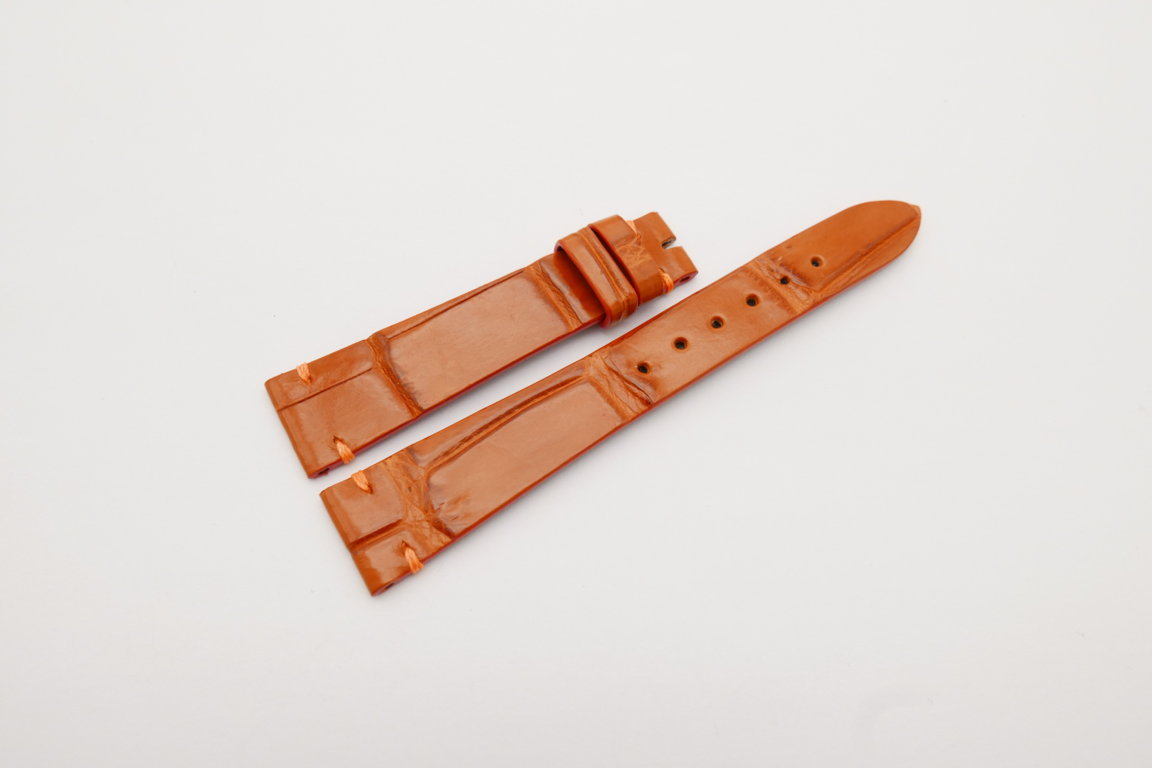 18mm/14mm Orange Genuine CROCODILE Skin Leather Watch Strap Band #WT4172