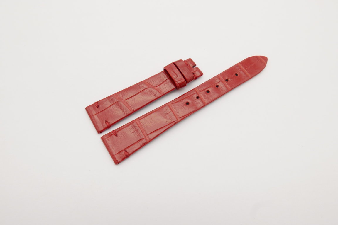 18mm/14mm Red Genuine CROCODILE Skin Leather Watch Strap Band #WT4176