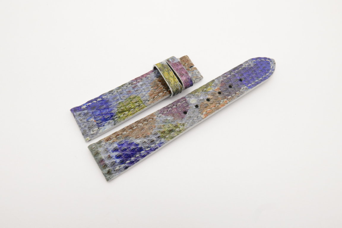 20mm/18mm Galaxy Genuine Lizard Skin Leather Watch Strap #WT4183