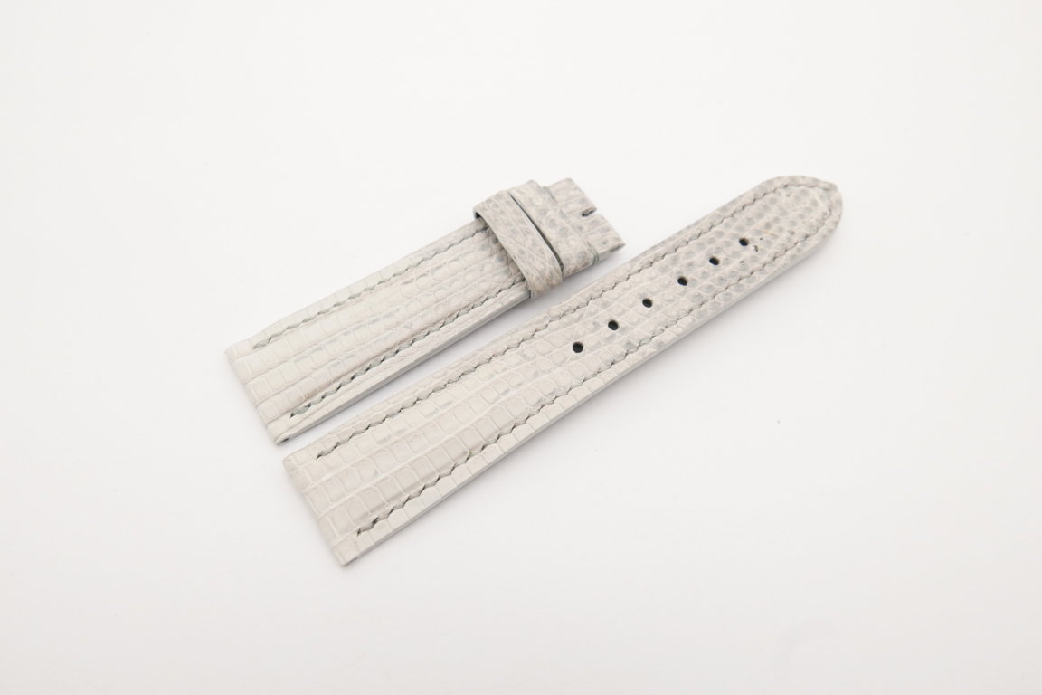 20mm/18mm White Genuine Lizard Skin Leather Watch Strap #WT4186