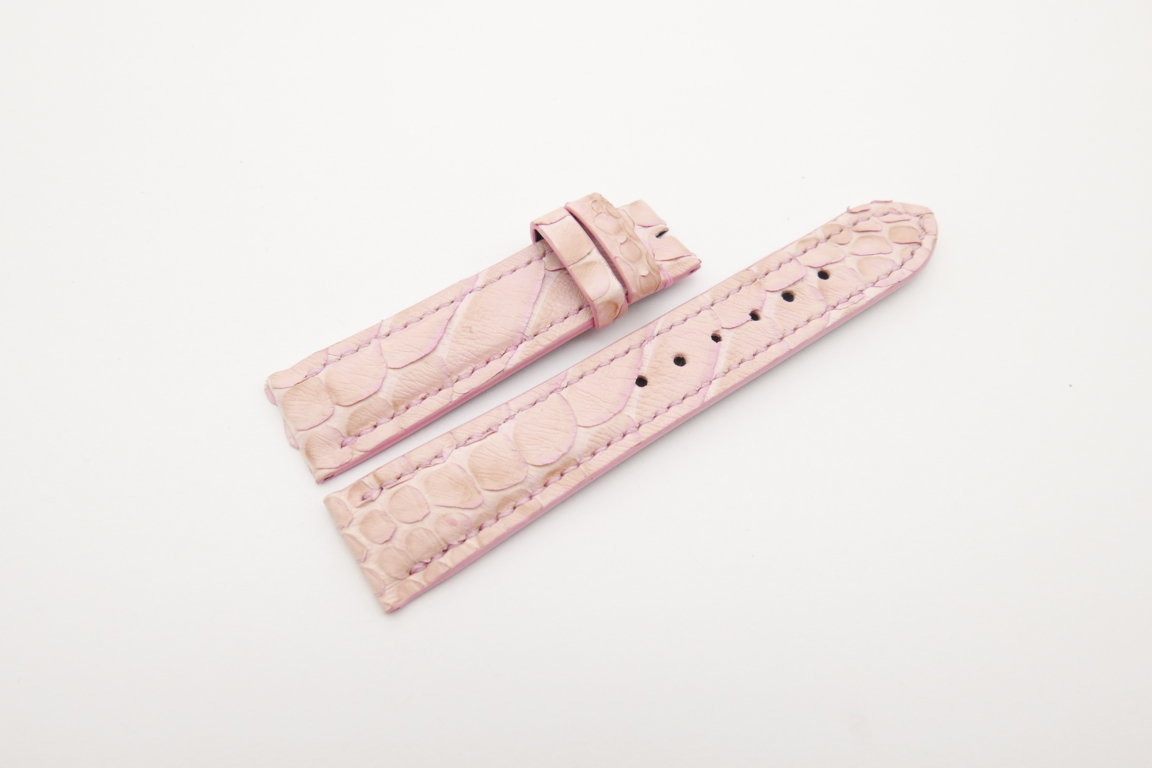 20mm/18mm Pink Genuine Python Skin Leather Watch Strap #WT4210
