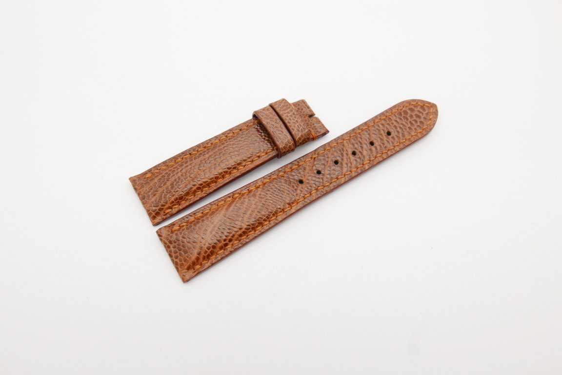 20mm/18mm Red Brown Genuine OSTRICH Skin Leather Watch Strap #WT4232