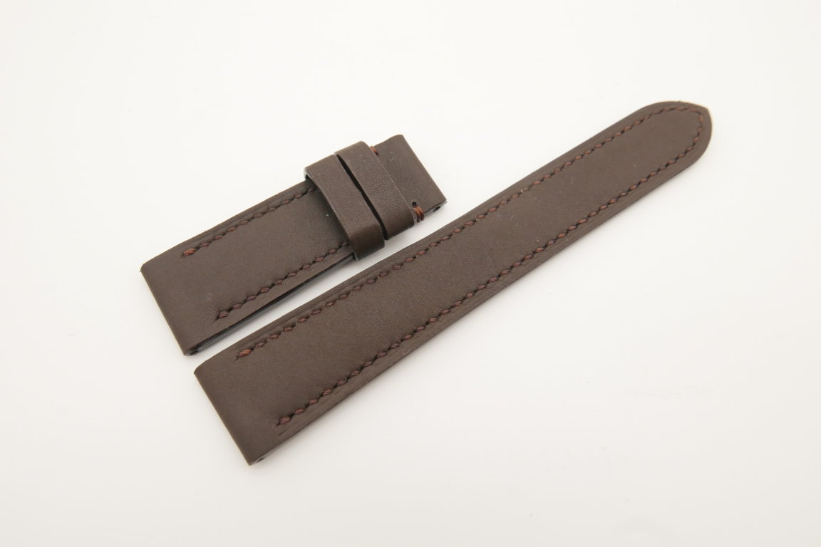 20mm/18mm Brown Genuine SOMBRERO CALF Skin Leather Watch Strap #WT4476