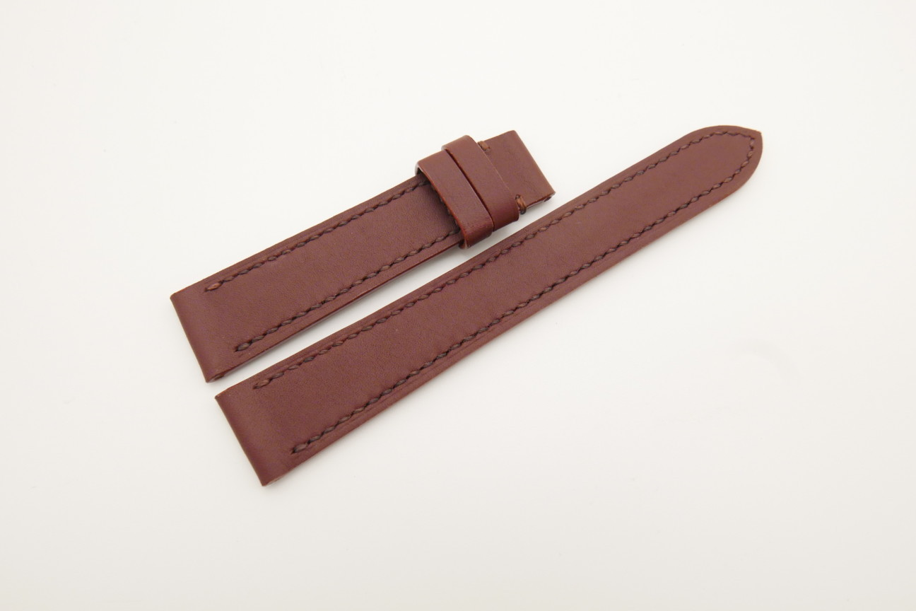 18mm/16mm Red Prune Genuine SOMBRERO CALF Skin Leather Watch Strap #WT4486