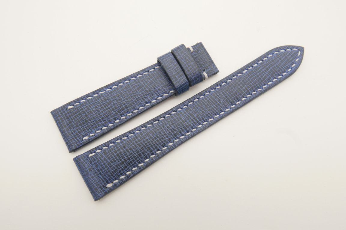 20mm/16mm Navy Blue Wax Leather Watch Strap #WT4690