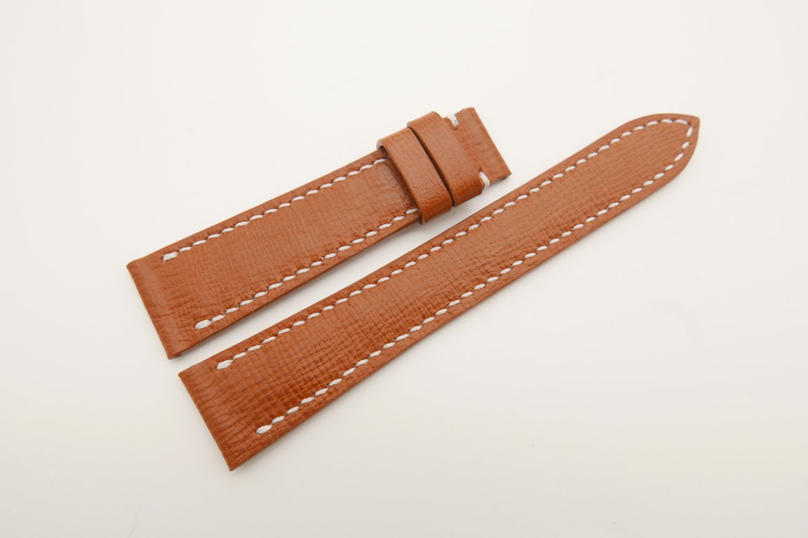 20mm/16mm Brown Wax Leather Watch Strap #WT4691