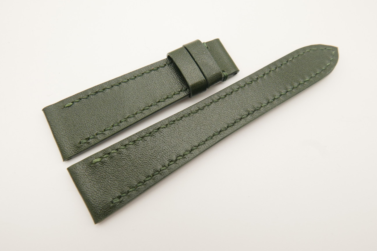20mm/16mm Dark Green Genuine ITALIA CALF Skin Leather Watch Strap#WT4815