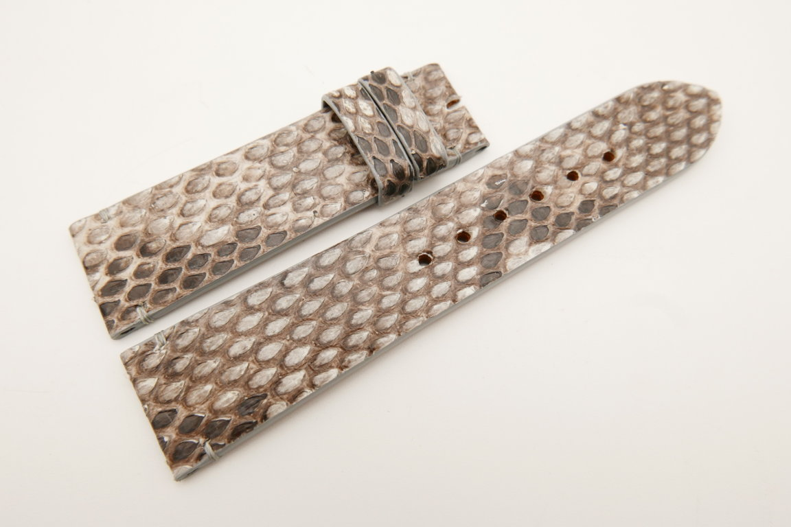 22mm/20mm Gray Genuine PYTHON Skin Leather Watch Strap #WT5063