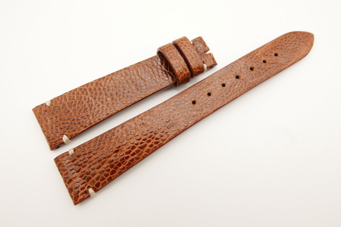 18mm/14mm Red Brown Genuine OSTRICH Skin Leather Watch Strap Band #WT5075