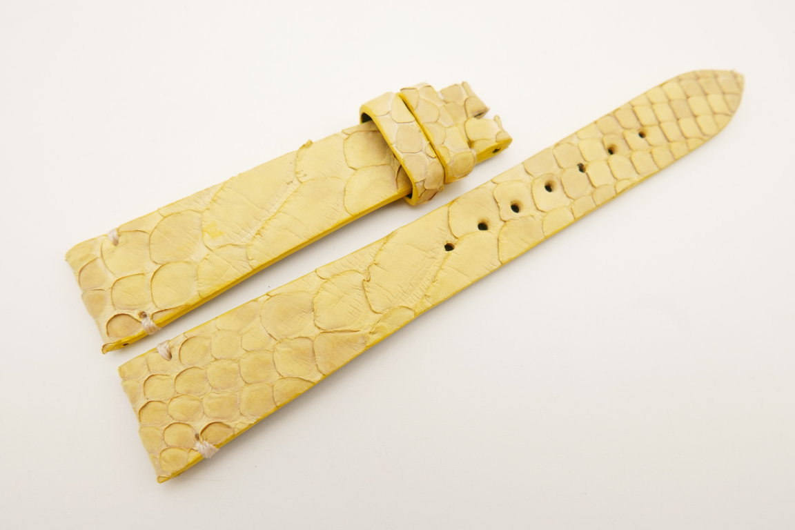 18mm/14mm Yellow Genuine PYTHON Skin Leather Watch Strap Band #WT5085