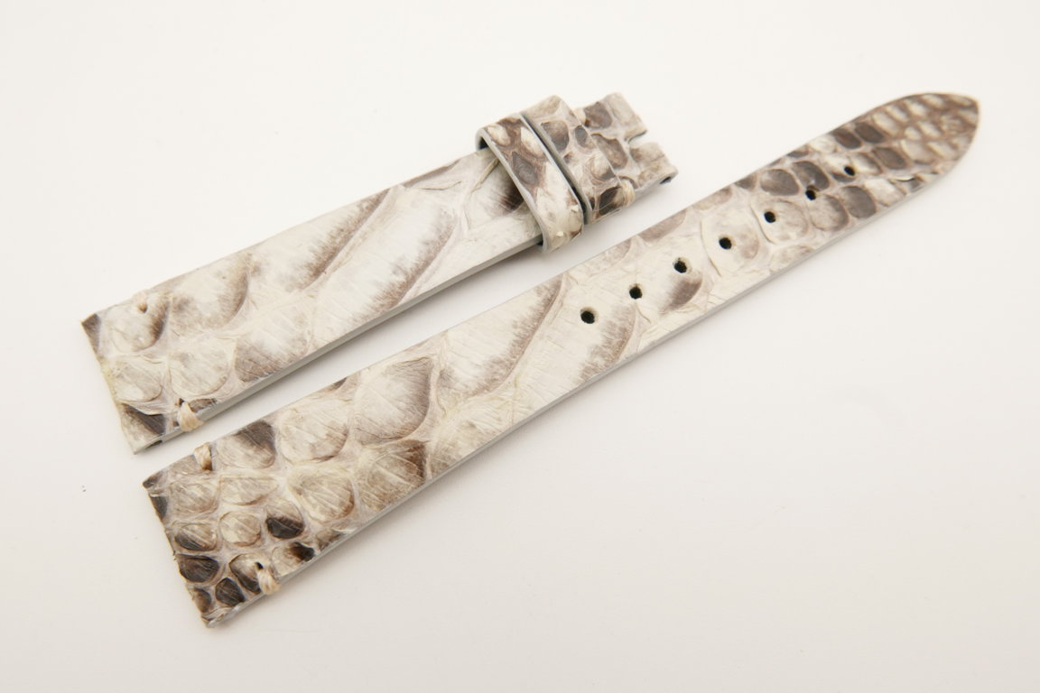 18mm/14mm White Genuine PYTHON Skin Leather Watch Strap Band #WT5092