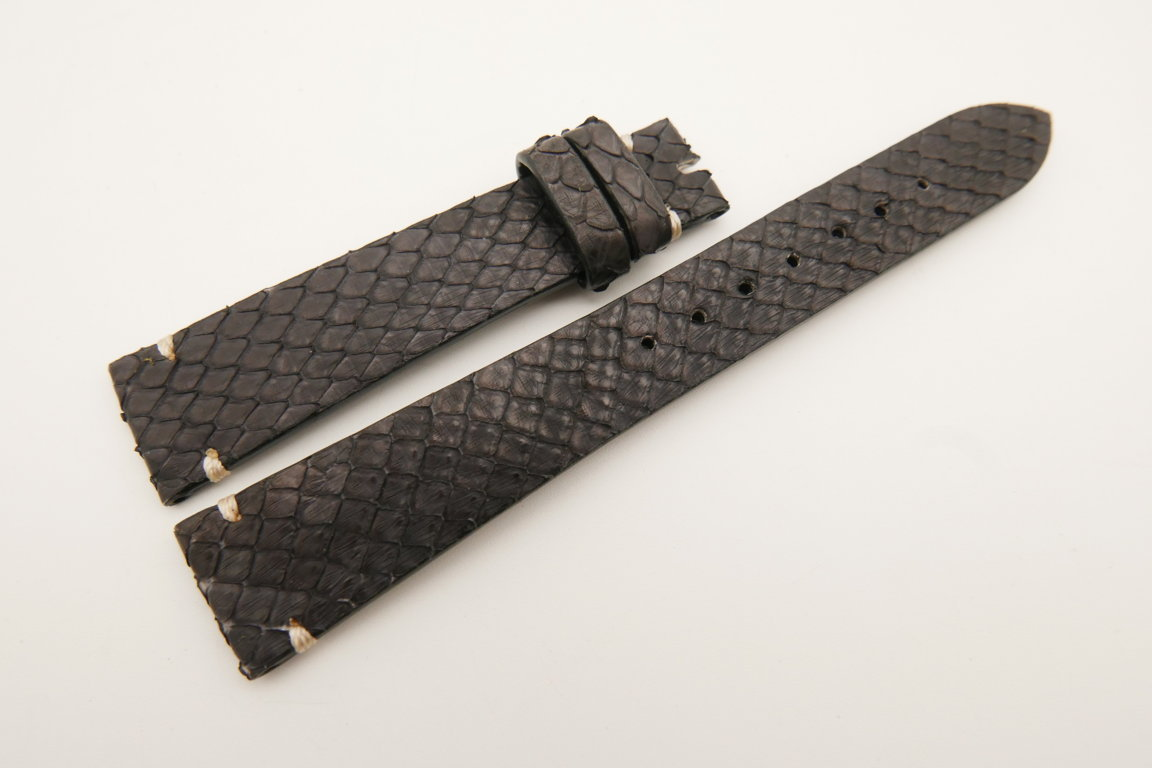 18mm/14mm Dark Purple Genuine PYTHON Skin Leather Watch Strap Band #WT5096