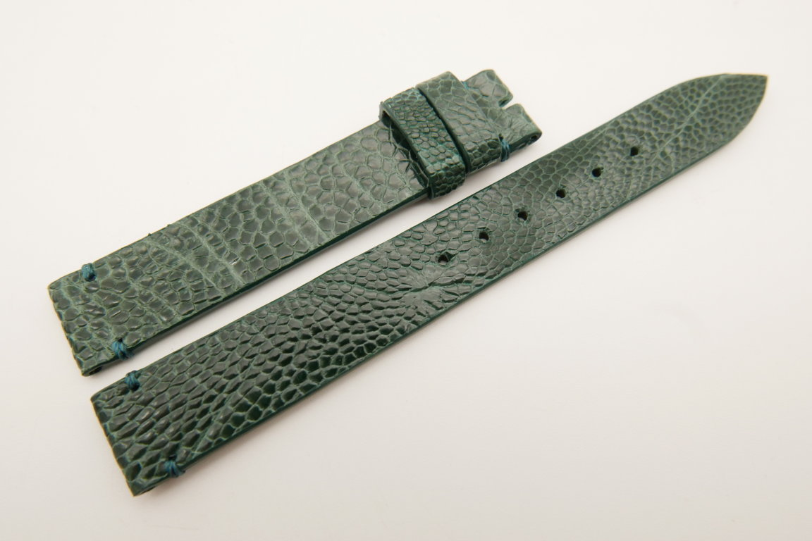14mm/14mm Green Genuine OSTRICH Skin Leather Watch Strap Band #WT5189