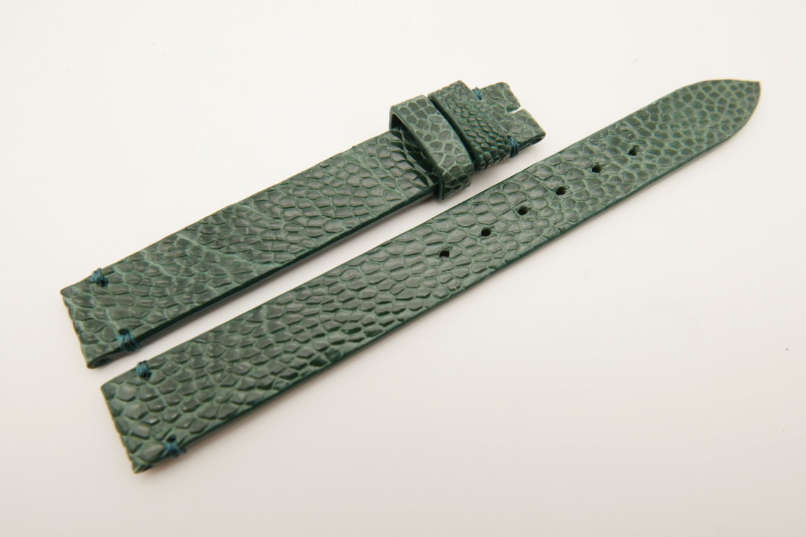 12mm/12mm Green Genuine OSTRICH Skin Leather Watch Strap Band #WT5193